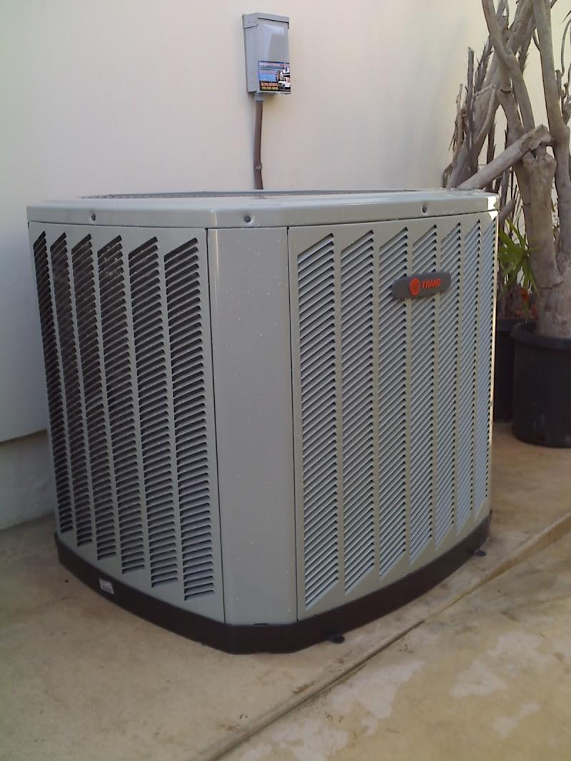 Professionally installed ac unit